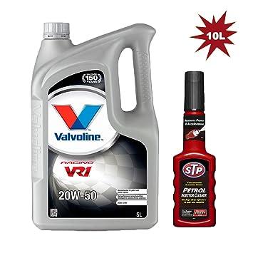 Valvoline VR1 De carreras 20 W-50 Aceite de motor gasolina 10L + Stp Inyector limpiador 200 ml: Amazon.es: Coche y moto