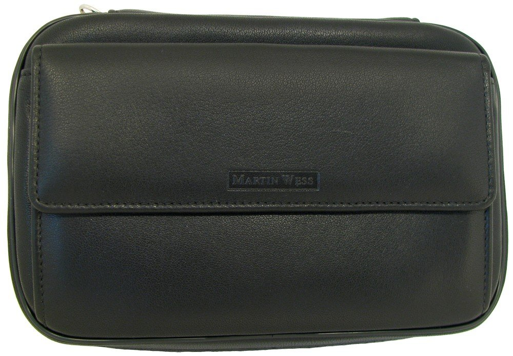 Martin Wess Germany ''Lea'' Soft Lamb Nappa Leather 4 Pipe Bag Case with office Compartment