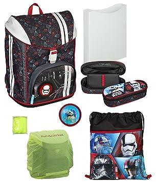 Herlitz Motion Plus Schulranzen-Set Blue Cubes 4 Teile Schultasche Ranzenset