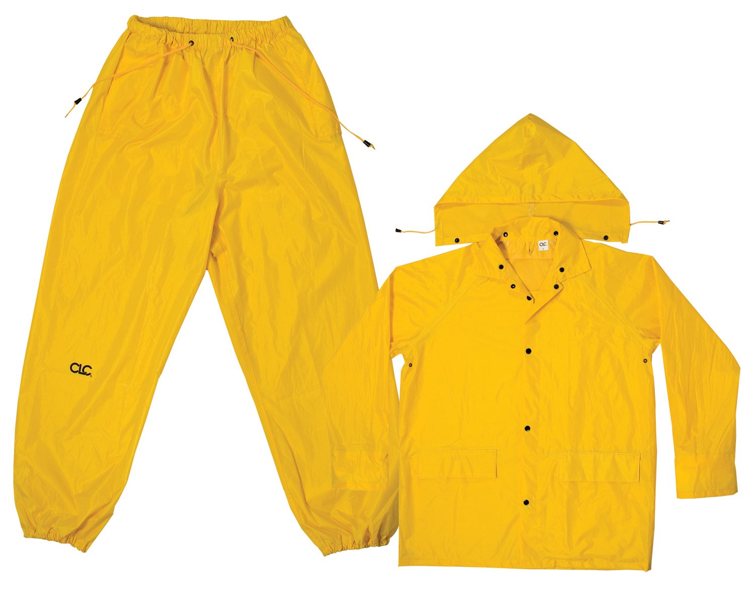 CLC Custom Leathercraft Rain Wear R1022X Yellow Polyester 3-Piece Rain Suit - 2XLarge