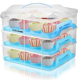 Amazoncom Cupcake Courier 36 Cupcake Plastic Storage Container