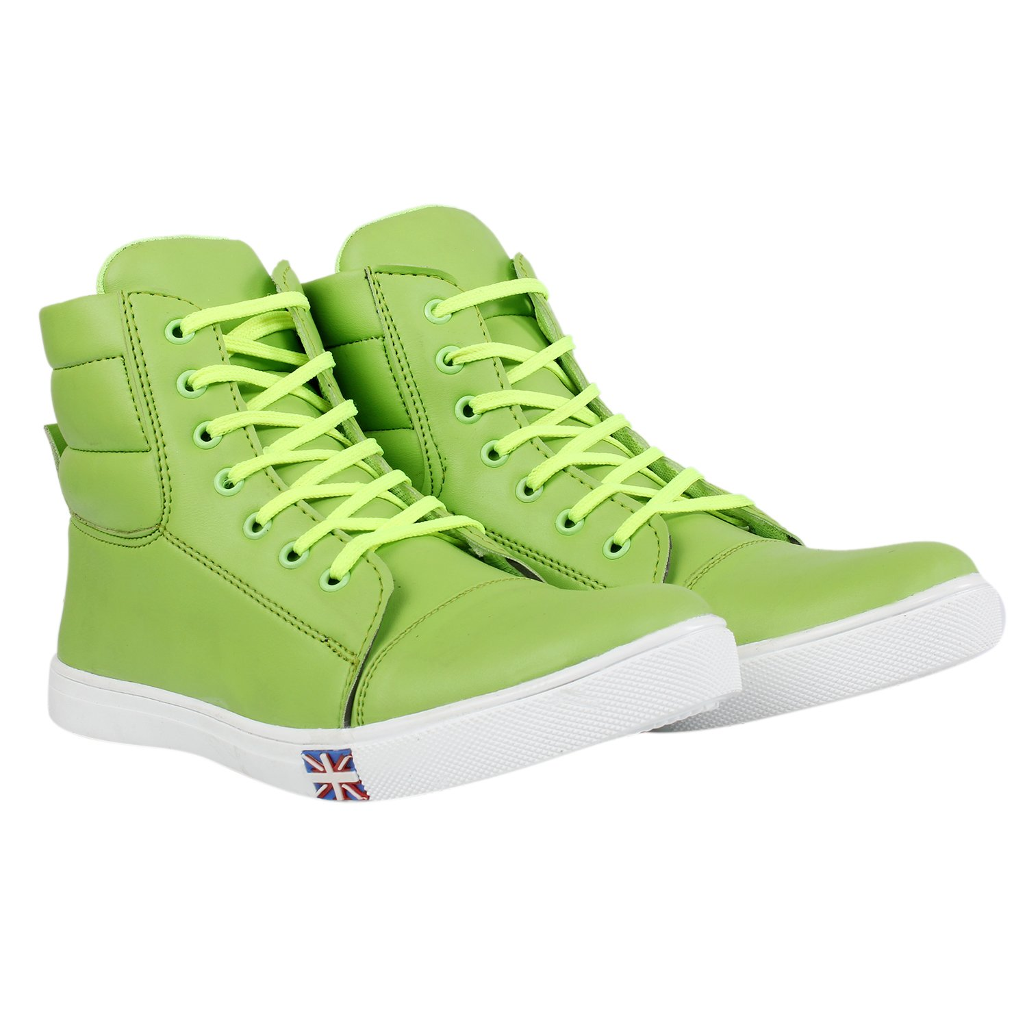 Buy Men's Green Synthetic Leather Long