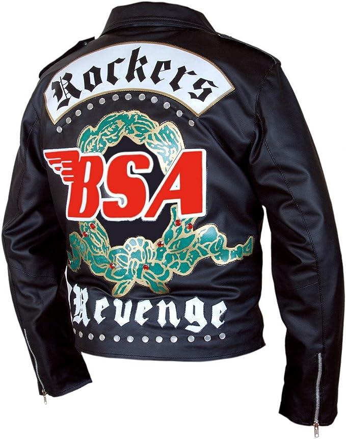 BSA George Michael Faith Rockers Revenge Men/'s Biker Cow Leather Jacket