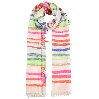 Passigatti Echarpe Jaquard Multidesign Stripes foulard en coton pour femme  (taille unique - multicolore)  Amazon.fr  Vêtements et accessoires 00aadfd0ba8