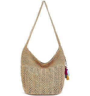 The Sak Women s Lucia Crochet Crossbody Desert Stripe One Size ... 880a9b6ec8616
