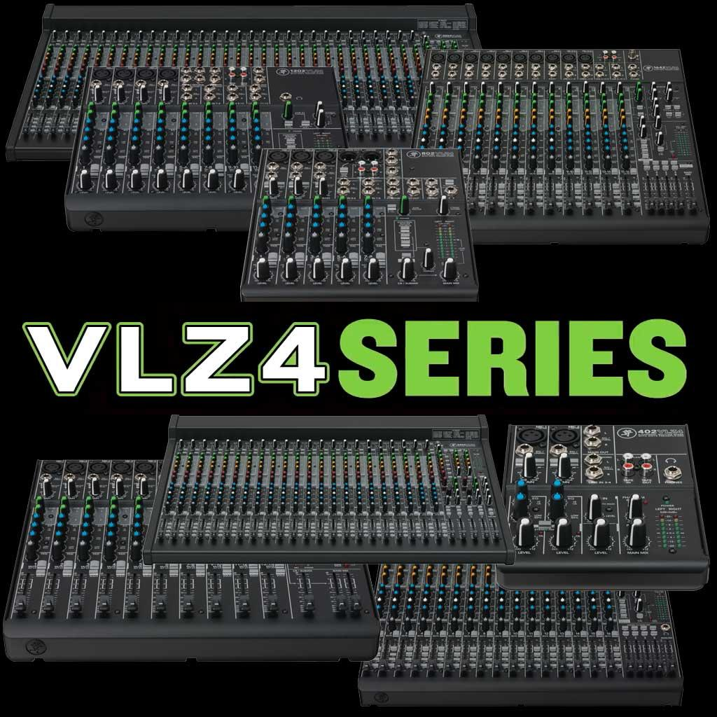 4 Channel Ultra Compact High Quality Amplifier Mixer Original Mackie 12 Vlz4 Multi Mixers