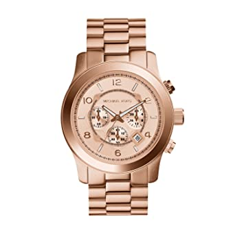 d2a76fc81369 Image Unavailable. Image not available for. Color  Michael Kors MK8096  Men s Runway Rose Gold-Tone Stainless Steel Watch