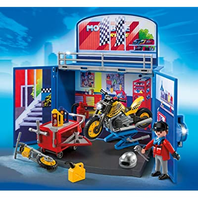 Playmobil - Cofre de Motos (61570): Juguetes y juegos