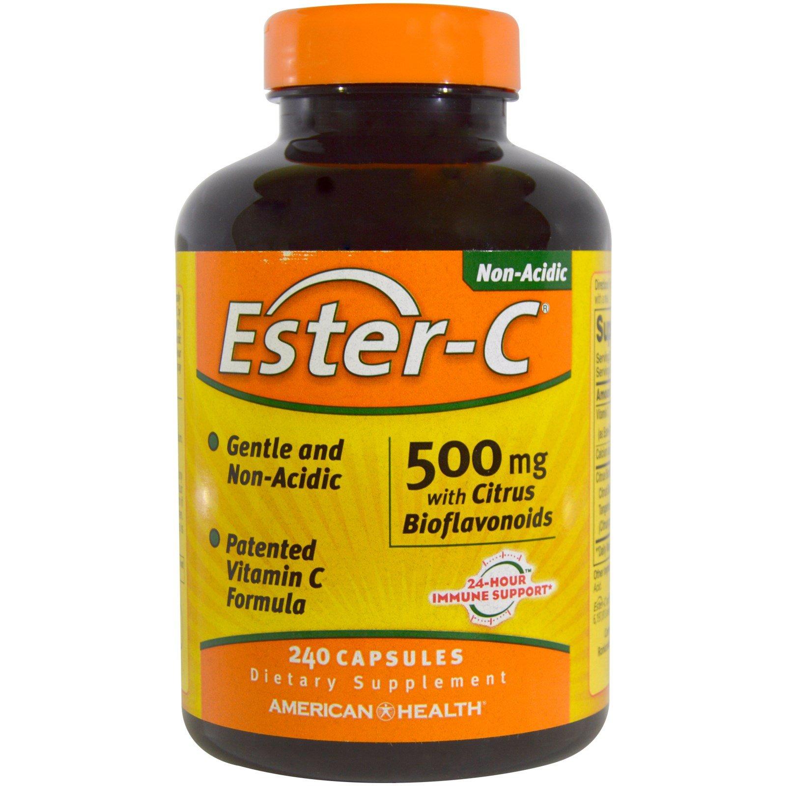 American Health, Ester-C, 500 mg with Citrus Bioflavonoids, 240 Capsules - 3PC