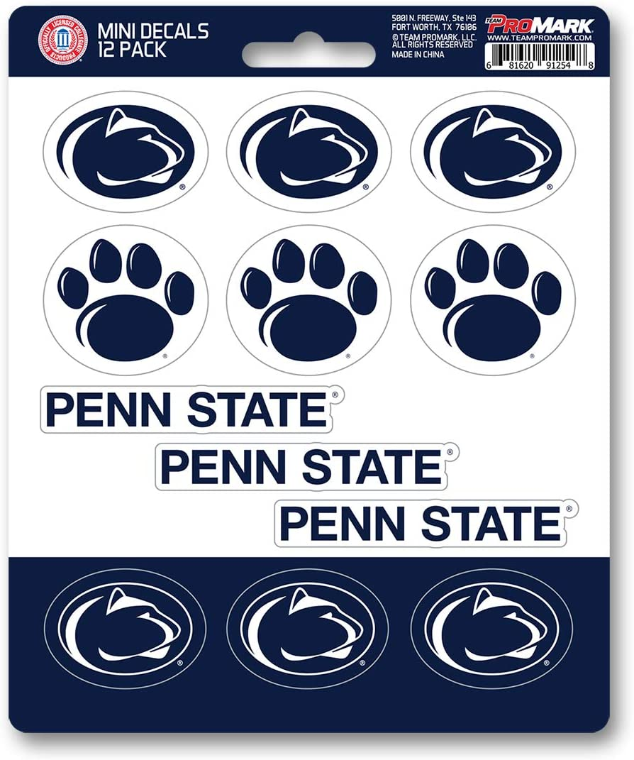 FANMATS NCAA Penn State Nittany Lions Decal Set Mini (12 Pack), Team Color, One Size