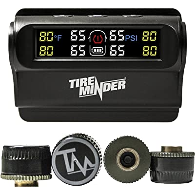 TireMinder Solar Powered Trailer TPMS, 4 Tire Kit: Automotive [5Bkhe0410071]