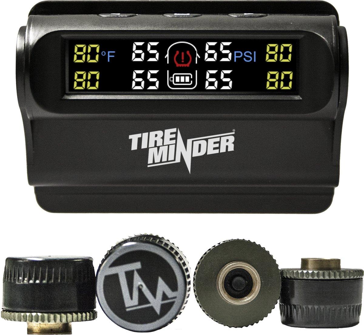 TireMinder Solar Powered Trailer TPMS, 4 Tire Kit by TireMinder