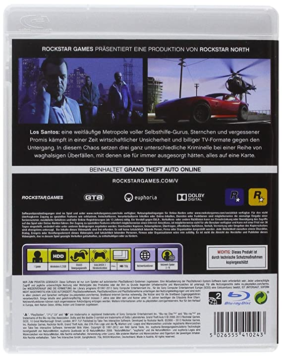 Grand Theft Auto V - Sony PlayStation 3: Amazon in: Video Games