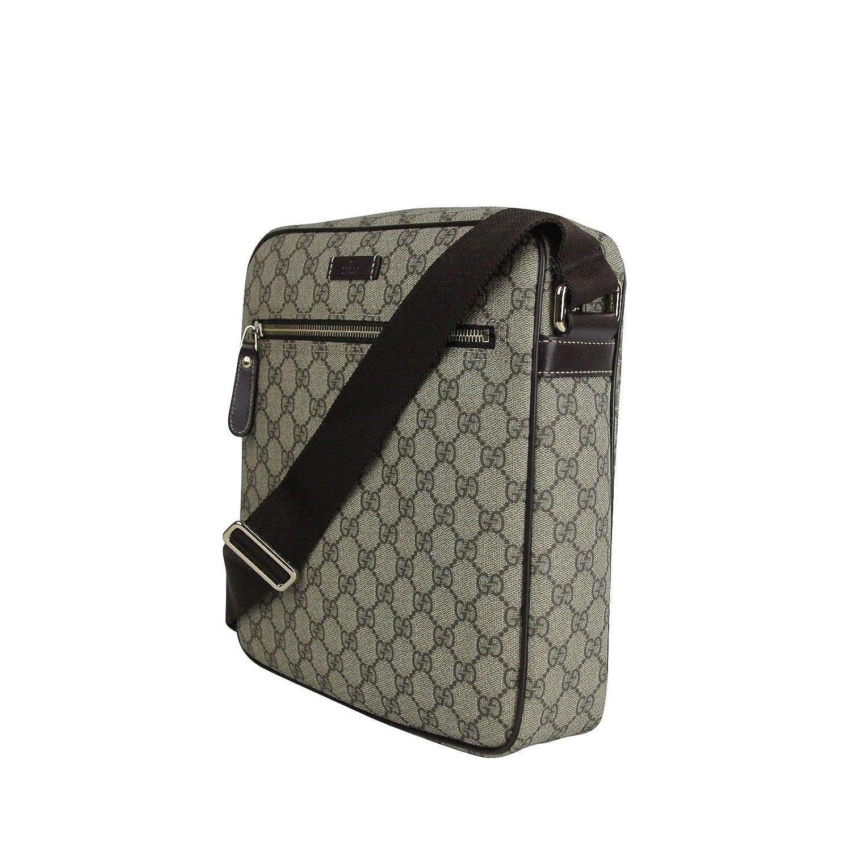fd51f1075159 Gucci Men s Shoulder Beige Ebony GG Coated Canvas Bag 201448 FCIGG 8588   Amazon.ca  Shoes   Handbags