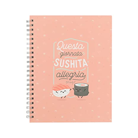 Mr. Wonderful Cuaderno, questa Day Sushita Allegria: Amazon ...