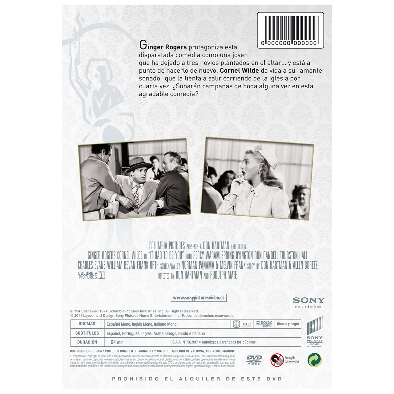 Clásicos Años 40: Tenías Que Ser Tú [DVD]: Amazon.es: Cornel ...