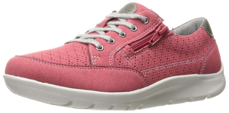 Rockport Women's Moreza Zip Tie Fashion Sneaker B01JOVAGY0 6 B(M) US|Pink/Metallic