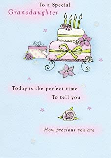Second Nature Special Granddaughter Birthday Greeting Card Cards Flittered Glitter