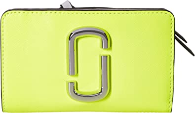 ce870e6c4a Marc Jacobs Women's Snapshot Flouro Compact Wallet Bright Yellow Multi One  Size