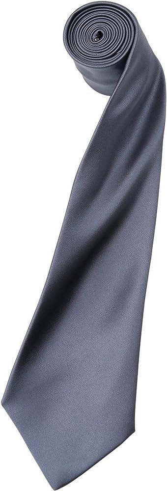 Premier Tie - Corbata Lisa satinada estrecha Hombre Caballero ...