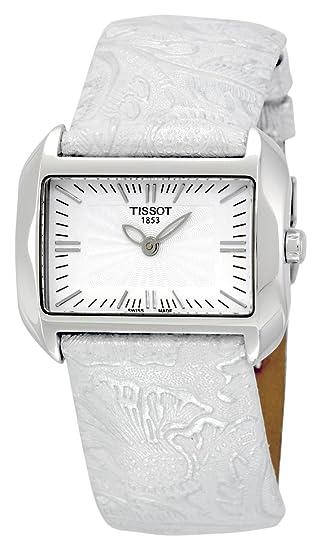 Tissot T-WAVE BIG DAU T0233091603102 - Reloj de mujer de cuarzo, correa color plata: Amazon.es: Relojes