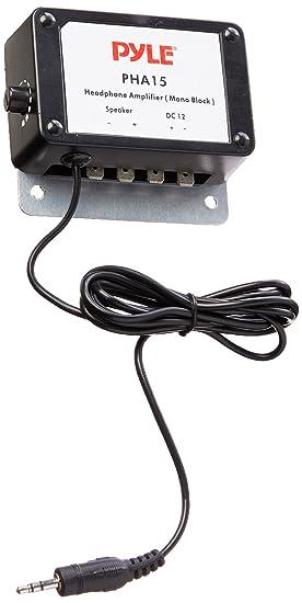 """Pyle PHA15 - Amplificador de audio mono (3.5 mm, 1/8"""","""