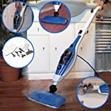 Wolf Pro 1500W 9-in-1 Super Heated Steam Cleaner Cleaning System - Sanitising Upright and Hand Held - Complete with WIDE RANGE of ACCESSORIES Clean Carpets, Windows, Hard Wooden Floor, Baths, Sinks, Showers, Tiles, Ovens, Fabric, Garments and Curtains