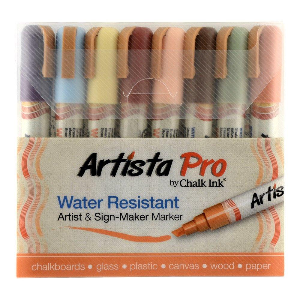 Artista Pro fibras resistentes al agua de colores set de 8