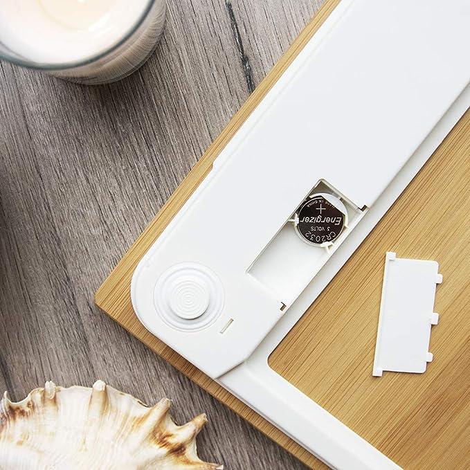 Cecotec Báscula de baño digital,Surface Precision 9300 Healthy alta precisión.Con plataforma de bambú (eco-friendly), pantalla LCD y capacidad máxima de ...