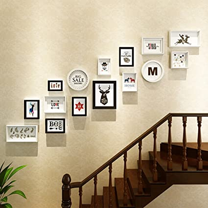 Marco De Fotos Conjunto De Pared Escaleras Collage Imagen Marcos De - Cuadros-para-escaleras
