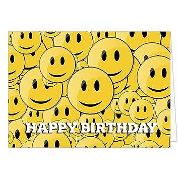 Gelbe Karte Lustig.Große Glückwunschkarte Zum Geburtstag Xxl A4 Viele Gelbe Lustige