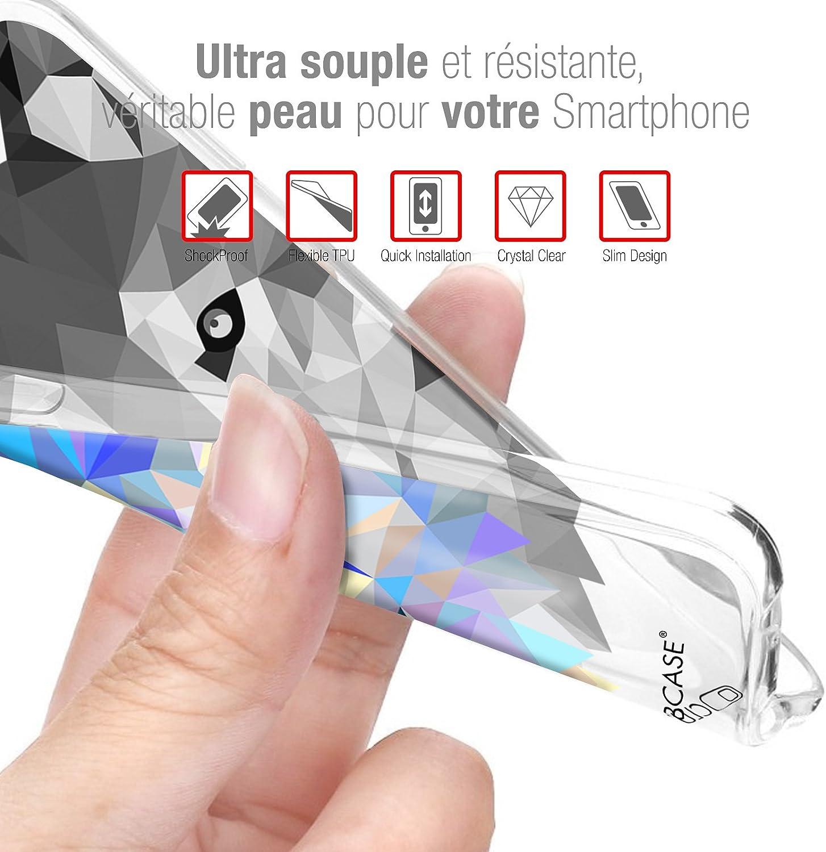 Coque Housse Etui pour Wiko Tommy Caseink Crystal Gel HD Collection Sweetie Design Heart Flakes - Souple - Ultra Fin - Imprim/é en France