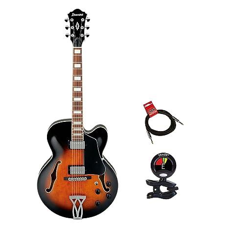 Ibanez af75vsb Artcore guitarra de cuerpo hueco eléctrico guitarra en acabado de madera de Vintage con