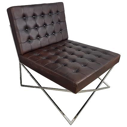 Indoortrendcom Club Sessel Lounge Sessel Schwarz Braun