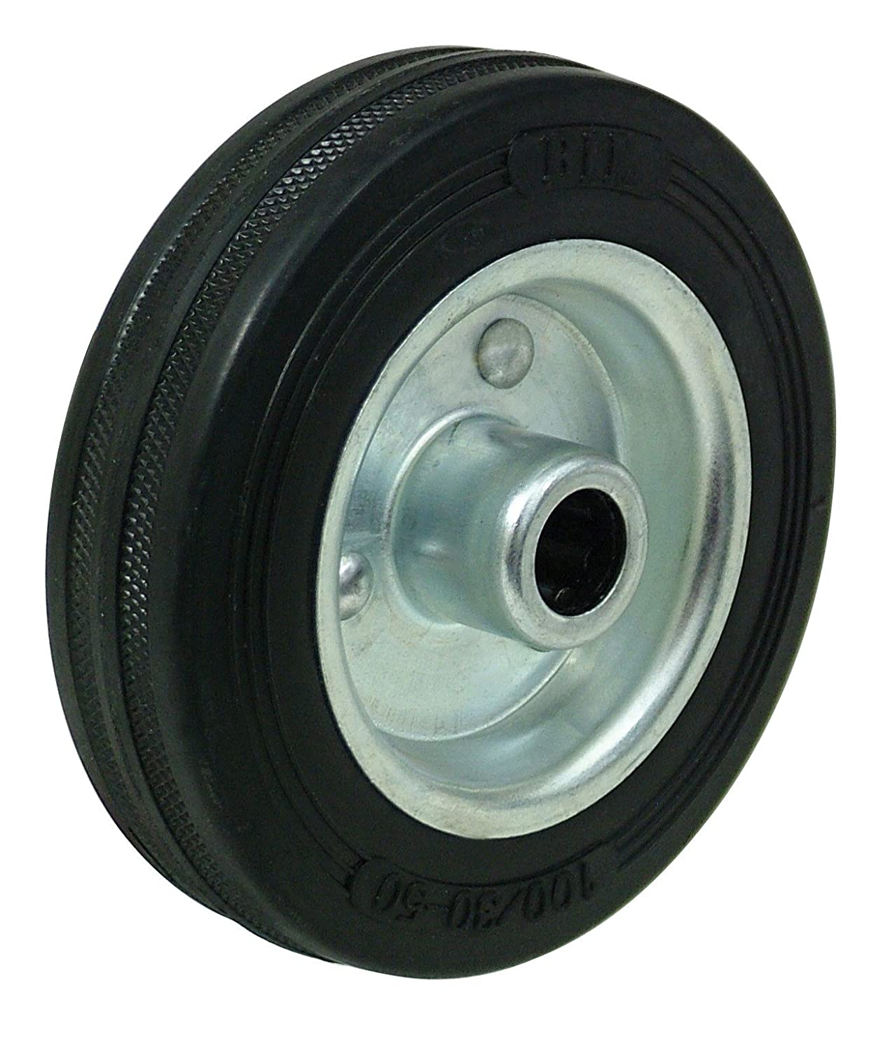 BZML100WBSRB 100mm Black Rubber Tyre Castor Wheel BIL
