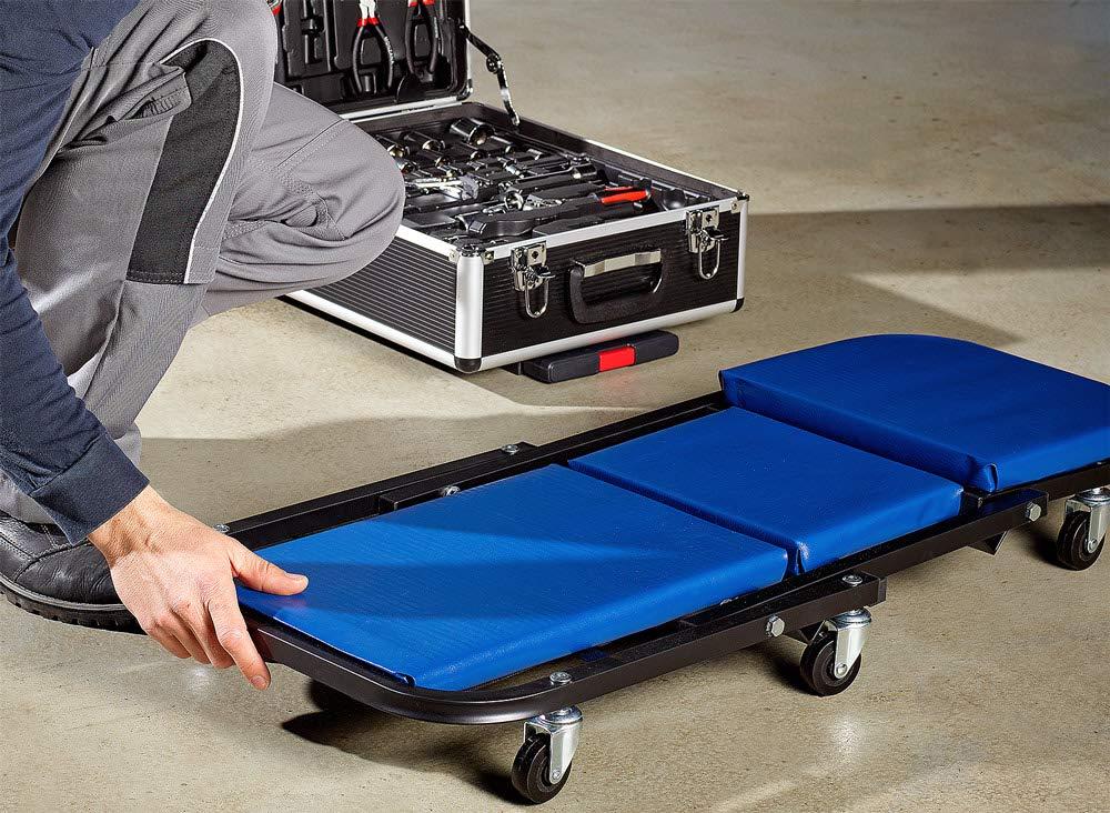Werkstattliege Montageliege Rollliege Werkstatthocker bis 150kg 6 leichg/ängige 360/° Lenkrollen Deuba/® 2in1 KFZ Rollbrett