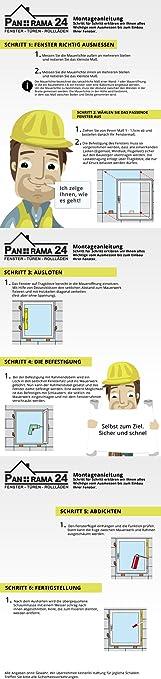 BxH:65x55 cm DIN Links Premium Dreh-Kipp Fenster Kellerfenster Kunststofffenster wei/ß ALLE GR/Ö/ßEN 3 fach Verglasung