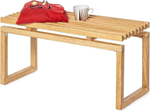 Deliano - Banco de madera estilo Bauhaus maciza, con espacio de ...