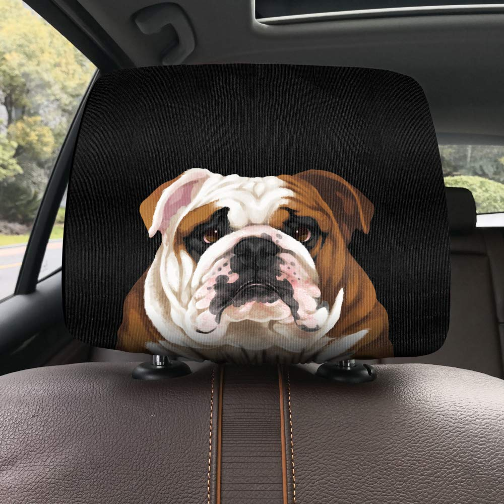 WIRESTER Car Seat Head Rest Cover Cute Animal Protective Fabric Design Cover Decoration for All Cars