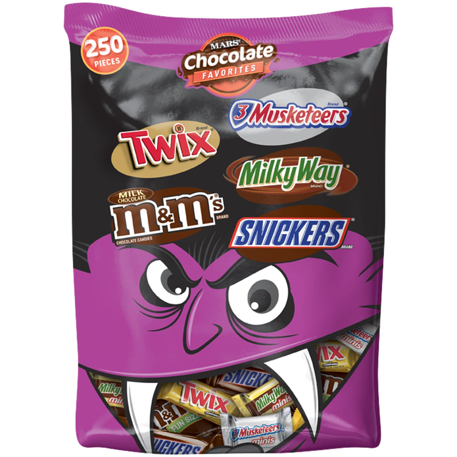 MARS Chocolate Favorites Candy Bars Variety Mix 96.2-Ounce 250-Piece Bag by Mars (Image #1)