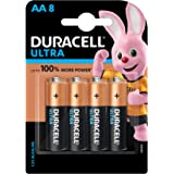 Duracell Ultra Alkaline AA Batteries (Pack of 8)