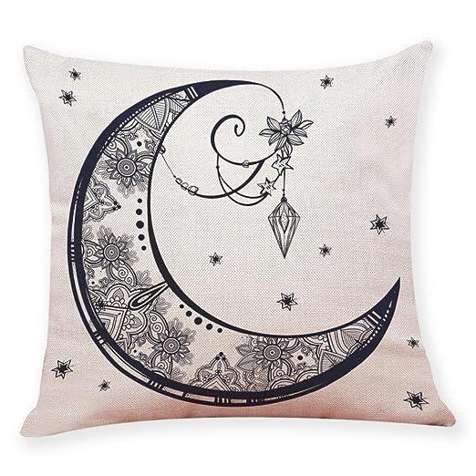 iuhan moda decoración para el hogar funda de cojín Sol Luna ...