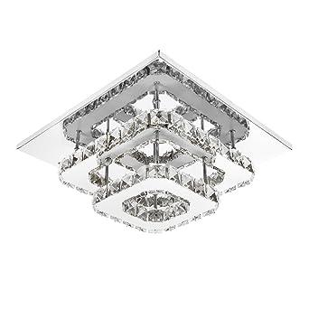 ETiME Deckenleuchte Kristall Deckenlampe LED Modern Kronleuchter für ...
