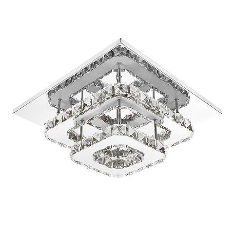 ETiME Deckenleuchte Kristall Deckenlampe LED Modern Kronleuchter Für Flur,  Gang, Balkon, Schlafzimmer (