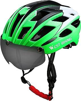 ICOCOPRO Casco de bicicleta con visera magnética desmontable ...