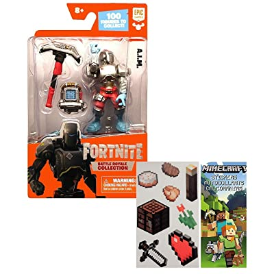 "Battle Royale Collection 2"" A.I.M Figure with one Sheet of 7 Minecraft Stickers Bundle (2 Items): Toys & Games"