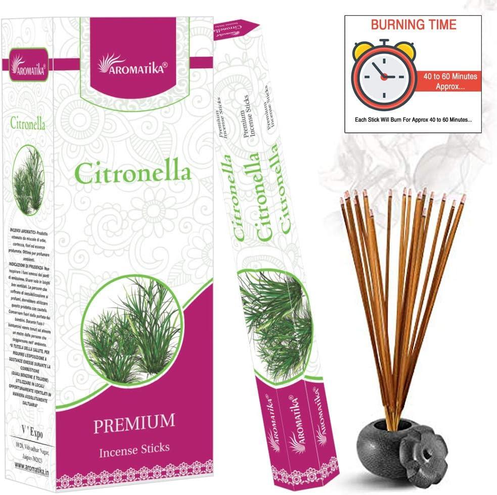 Amazon Com Aromatika Natural Citronella Incense Sticks 6 Pack Of