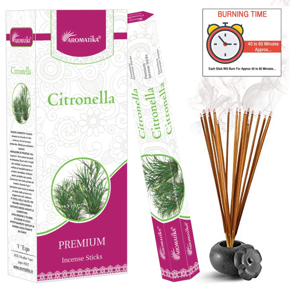 aromatikaシトロネラPerfume Incense Sticks ( Hexa ) B0764BJDG7