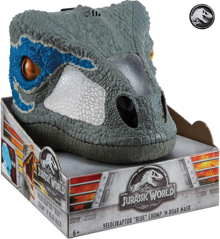 Jurassic World Dino-Máscara con sonidos, juguete de la película (Mattel FMB74)