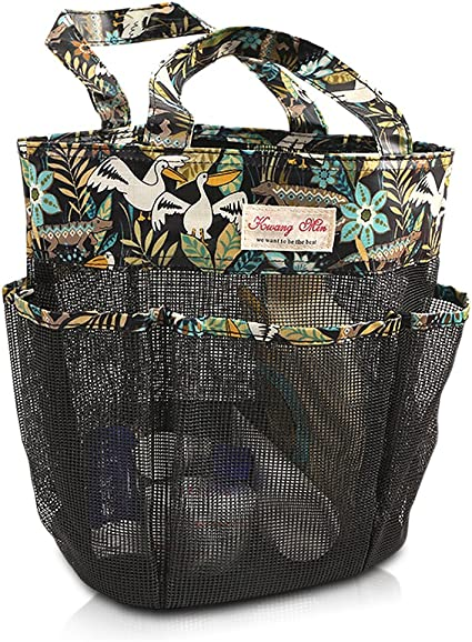 Amazon Com Fishmm Fashion Print Mesh Shower Caddy College Big